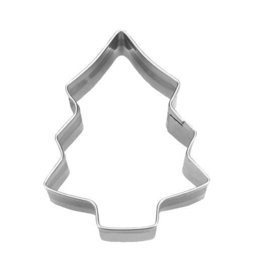 Präge-Ausstechform Tanne 6,5 cm aus Edelstahl
