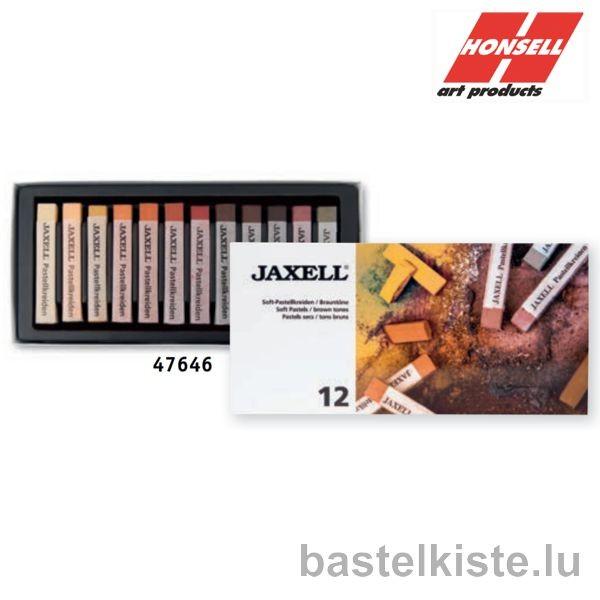 JAXELL Soft Pastelle, 12er BRAUNTÖNE Pastellset
