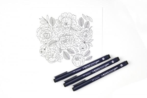 Tombow MONO drawing pen in 3 Stärken