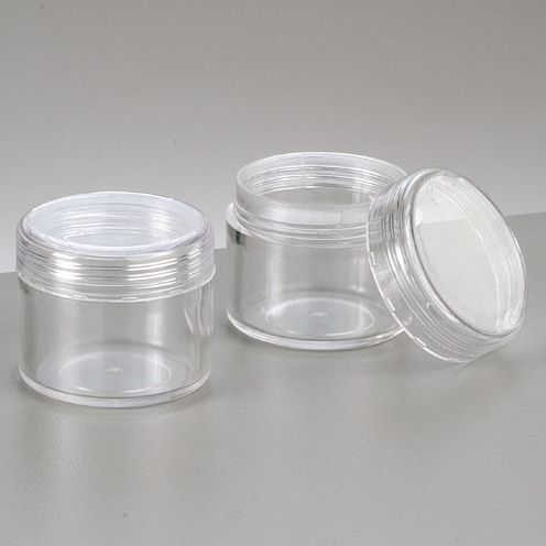 Kunststoffdose ø 3,9 cm x 3,3 cm glaskla, rund 10 Stk.