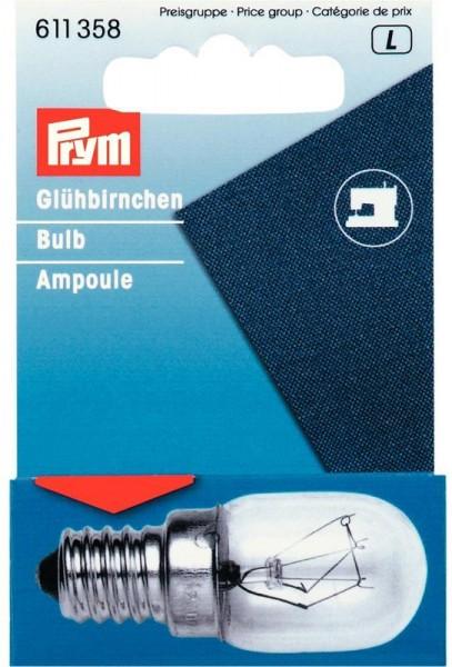 PRYM 611358 Glühbirne für Nähmaschinen, 15W, Schraub-Fassung