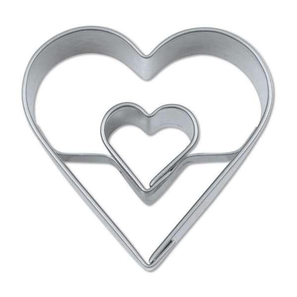 Präge-Ausstechform Herz 4,0 cm aus Edelstahl