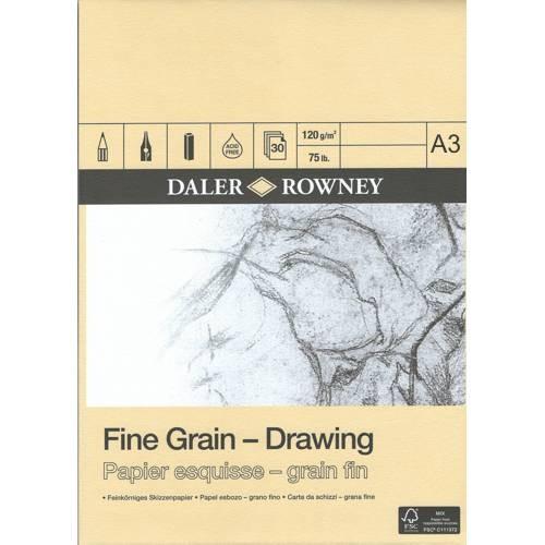 Feinkörniges Skizzenpapier 120g/m², DIN A3, 30 Blatt