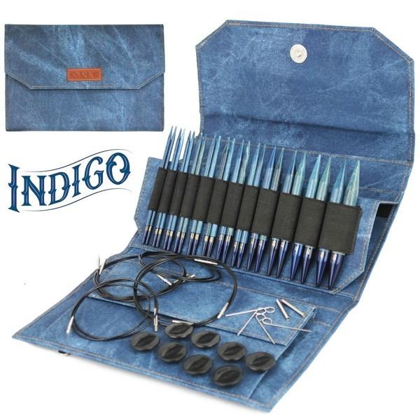 LYKKE Indigo Rundstricknadel-Set 5-inch Nadel