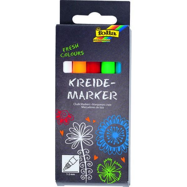 Kreidemarker, Kreidestifte, Chalk Markers 5er Set ►FRESH COLOURS◄