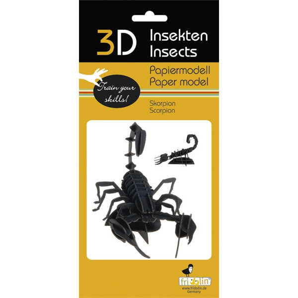 """3D Papiermodell """"Skorpion"""" zum zusammenbauen"""
