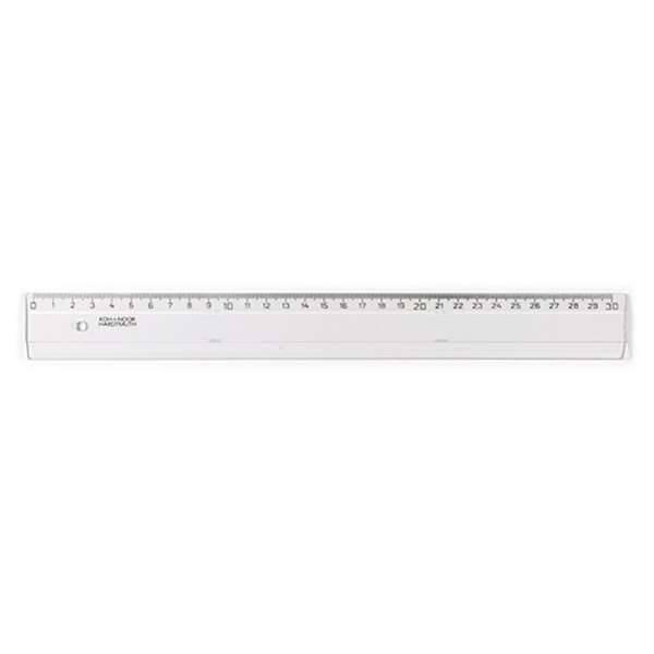 Kunststofflineal 30cm, transparent klar