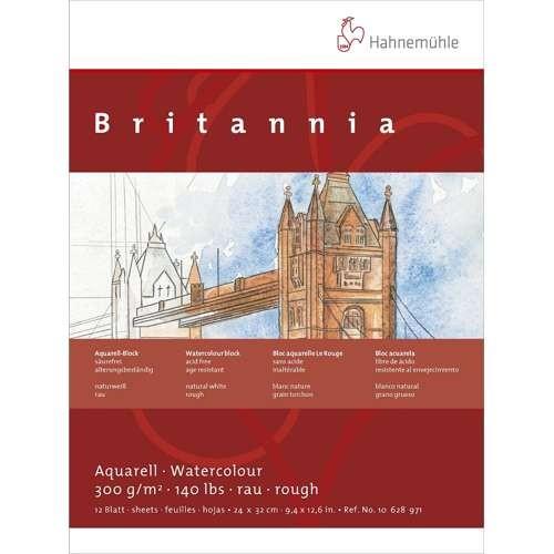 Hahnemühle Britannia Aquarellblock 300g/m², 24x32cm, 12 Blatt