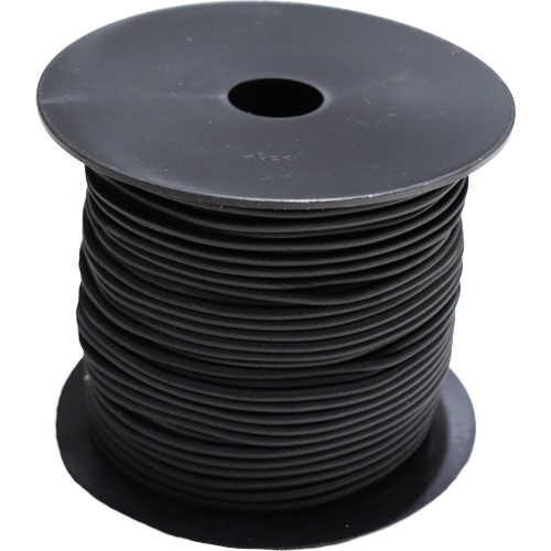 Elastic Rundgummi Meterware Zuschnitt Ø 3 mm schwarz