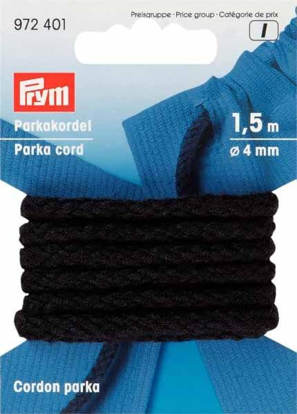 Parkakordel Ø=4 mm, schwarz, 1,5m