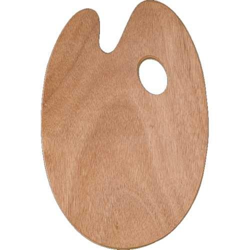 Mischpalette, Holzpalette oval 27 x 41 cm, Ø 5 mm