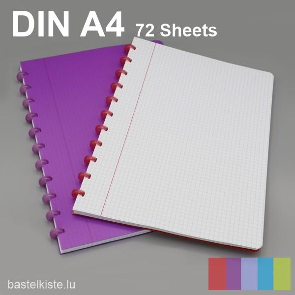 ATOMA Ring-Heft kariert DIN A4 mit Rand, in verschiedenen Farben