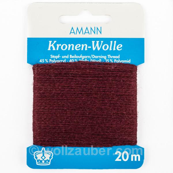Stopfgarn und Beilaufgarn, 20 m Kronen-Wolle von AMANN