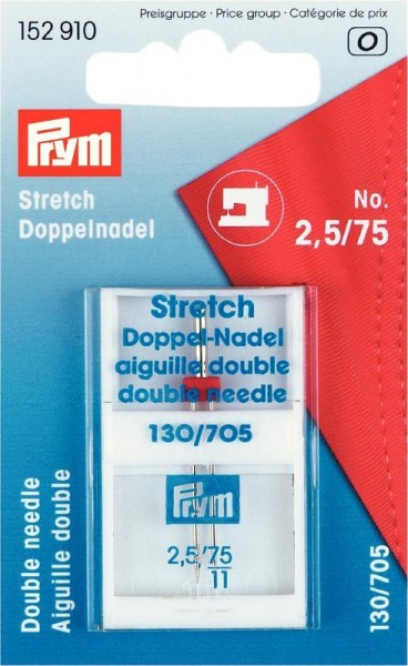 PRYM 152910 STRETCH Doppel-Nähmaschinennadeln Gr.75/2,5