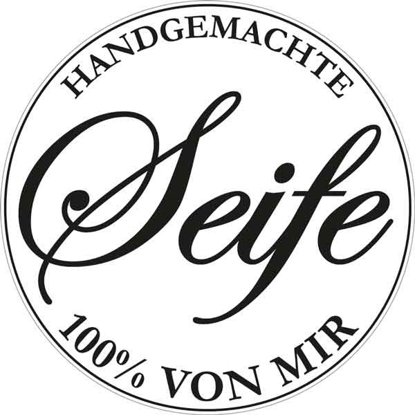 """RAYHER Seifenlabel """"Handgemachte Seife 100% von mir"""""""