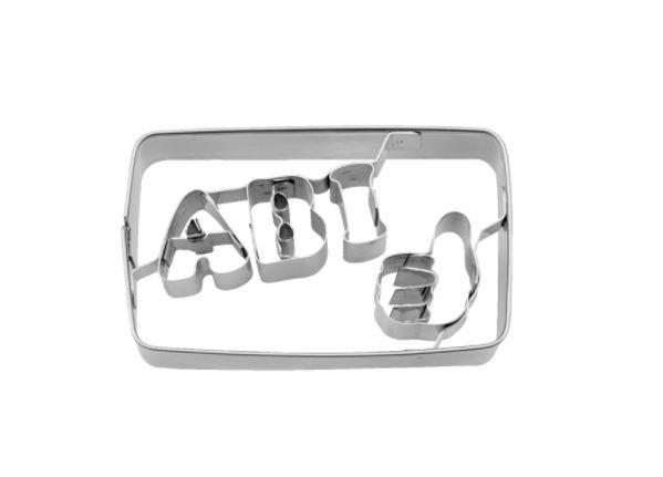 Präge-Ausstechform ABI 7 cm aus Edelstahl