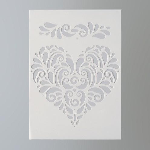 Schablone Herz DIN A5