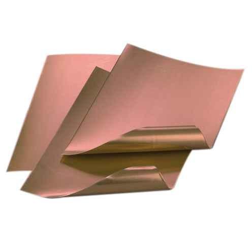Prägefolien, Kupferfolienzuschnitte 20 x 30 cm, Ø 0,20 mm