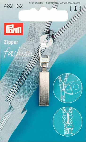 Prym Fashion-Zipper Classic, mattsilber