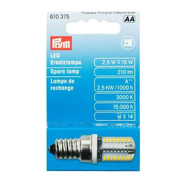 LED Ersatzlampe für Nähmaschinen, Schraubgewinde PRYM 610375