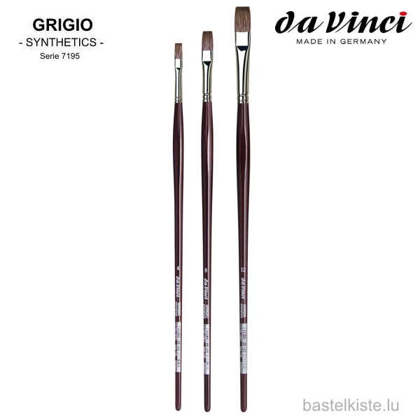 Da Vinci Öl & Acrylmalpinsel GRIGIO Serie 7195 ►FLACH◄