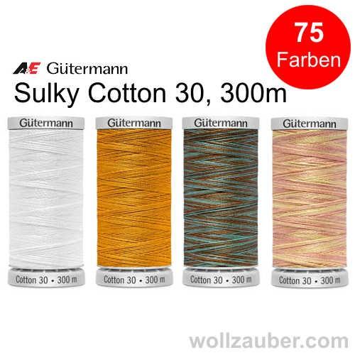 Sulky Cotton 30, Maschinenquiltgarn, Quilting 300m