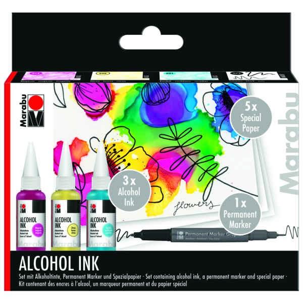 Alkoholtinte, Alcohol INK Set - FLOWERS -