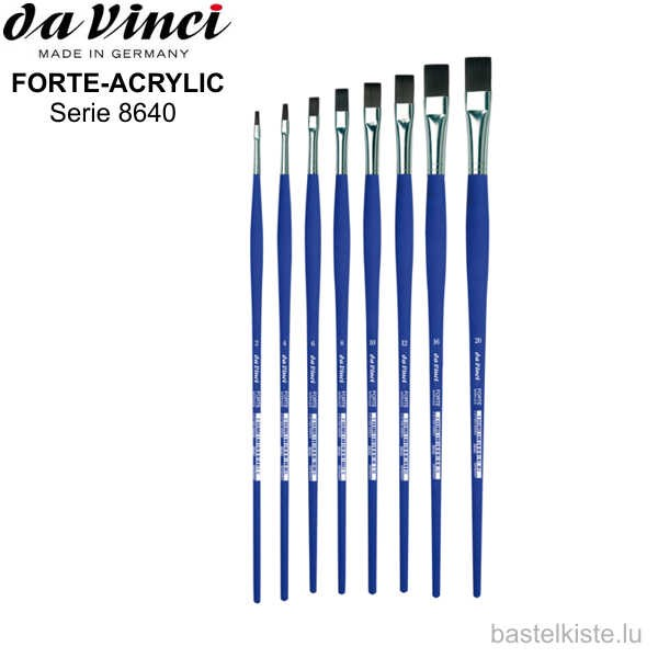 Da Vinci FORTE-ACRYLICS flach Serie 8640