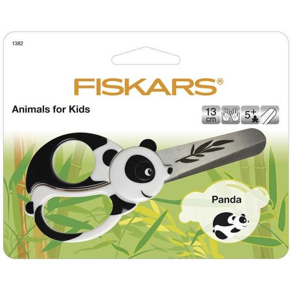 FISKARS Kleine Bastelschere, Kinderschere PANDA 13cm