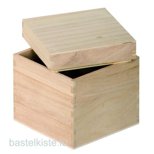 Holzbox in Würfelform 12 x 12 x 12 cm