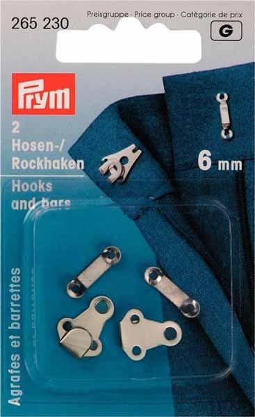 PRYM Hosen-/Rockhaken und Stege 6mm, 2 St.