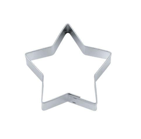 Präge-Ausstechform Stern 4 cm aus Edelstahl