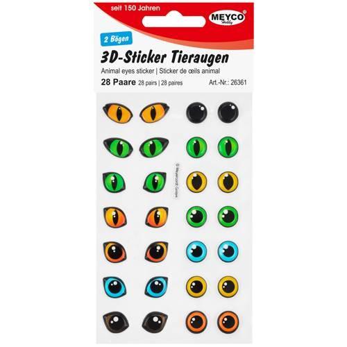 3D-Sticker Augen in Farbe