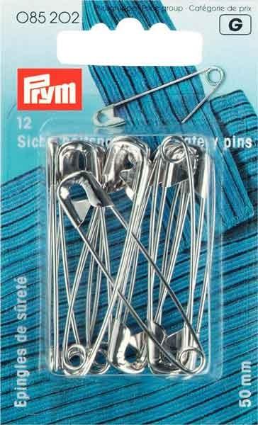 Prym Sicherhnadeln, silberfarbig, 50mm, 12St