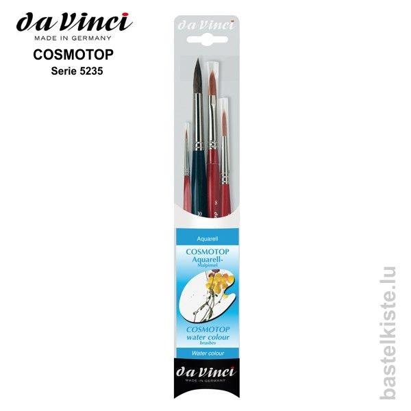 Da Vinci Aquarellmalpinselset COSMOTOP, Pinsel Set 5235
