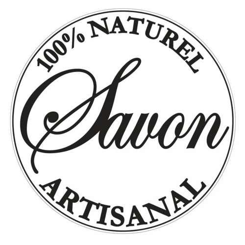 """Einlegelabel zur Seifenherstellung """"100% naturel artisanal"""""""