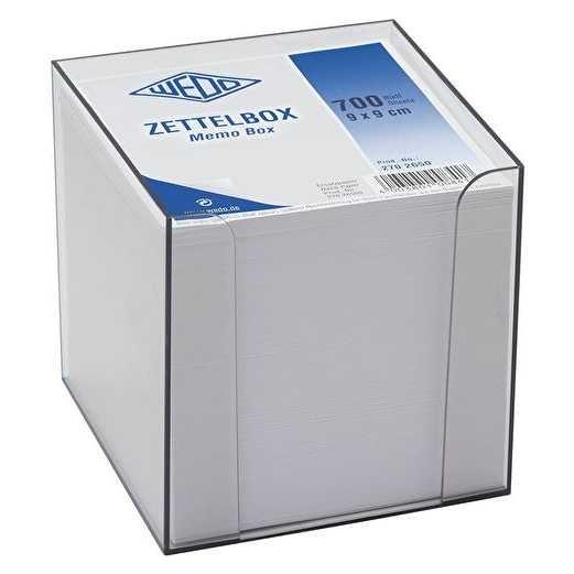 Zettelbox 9 x 9 cm mit 700 Blatt
