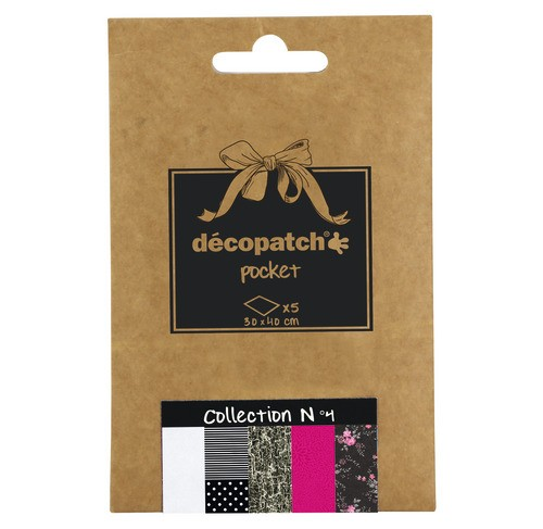 décopatch Papier, collection No.4, 30x40cm, 5 Blatt