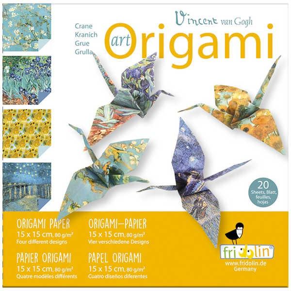 """Origami Faltblätter 80g/m² 15x15cm - 20 Blatt """"Van Gogh"""""""