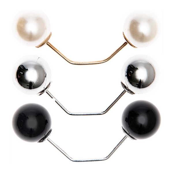 Zwei-Perlen-Pin Verschluss für Schal, Tuch, Weste