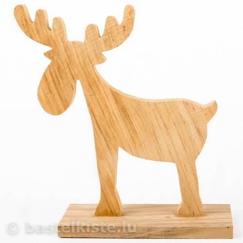 Elch aus Holz 145 x 170 mm