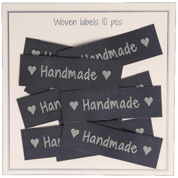 "Stoff-Label ""Handmade"" schwarz wollzauber"