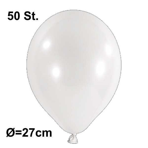 Luftballon Ø 27cm Farbe weiß, 50 Stück