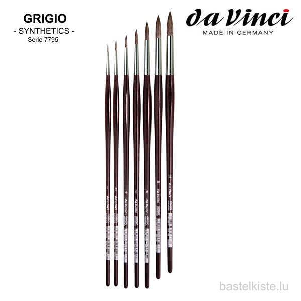 Da Vinci Öl & Acrylmalpinsel GRIGIO Serie 7795 ►RUND◄