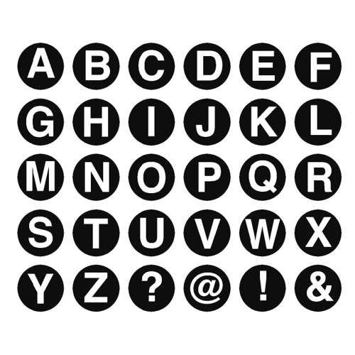 Holzbuchstabenstempel, Groß- & Kleinbuchstaben 1x1cm