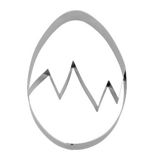 Präge-Ausstechform Ei 10 cm aus Edelstahl