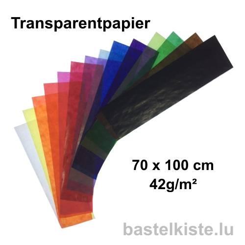 Transparentpapier (Drachenpapier) Bogen 70 x 100 cm, 42g/m²