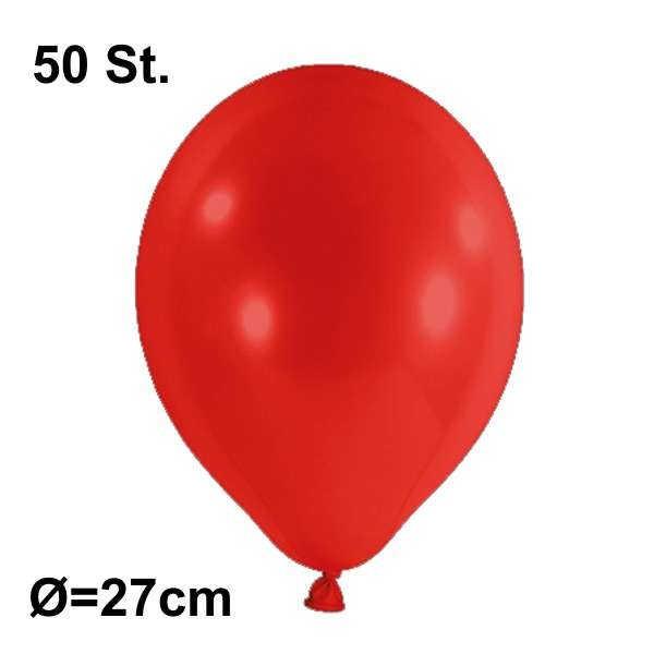 Luftballon Ø 27cm Farbe rot, 50 Stück