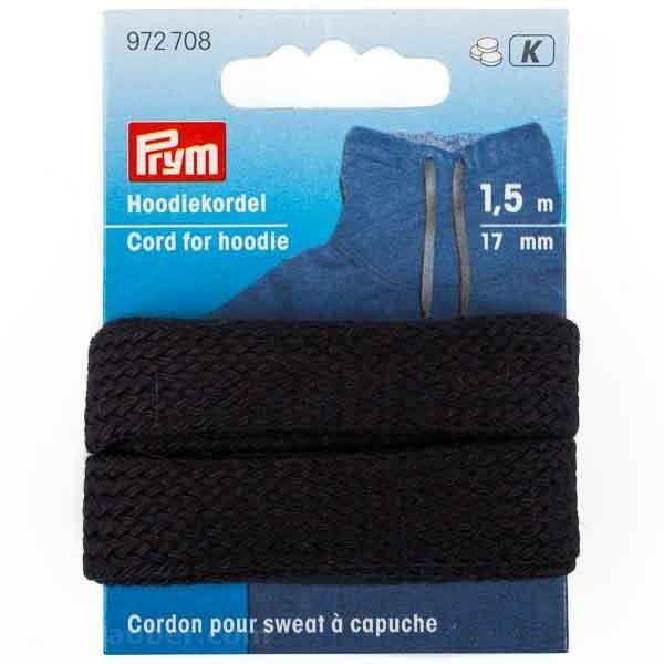 Prym Hoodiekordel 17mm in schwarz von PRYM 972708