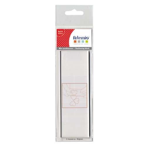 Transparente Stempelplatte, Acrylblock für Clear Stamps 15x5 cm